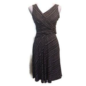 BCBG Maxazria Faux Wrap Sleeveless Dress, S